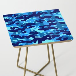 Camouflage (Blue) Side Table