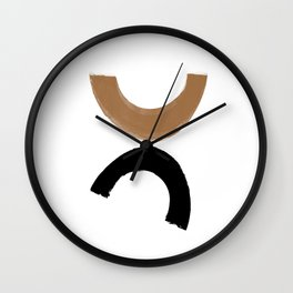 Beige and Black Collage Wall Clock