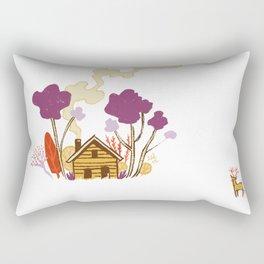 Cabin in Woods Rectangular Pillow
