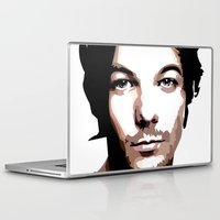 louis tomlinson Laptop & iPad Skins featuring LOUIS TOMLINSON Vector Portrait by LsArtistry