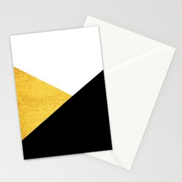 Gold & Black Geometry Stationery Cards