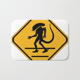 Alien Crosswalk Sign 1 Bath Mat