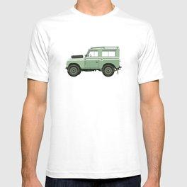 Car illustration - land rover defender T-shirt