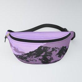 Chugach Mountains - EggPlant Pop Art Fanny Pack