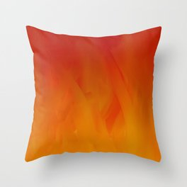 Flames of Gold Throw Pillow