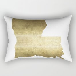 louisiana gold foil state map Rectangular Pillow