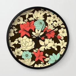 Flower Market Wall Clock