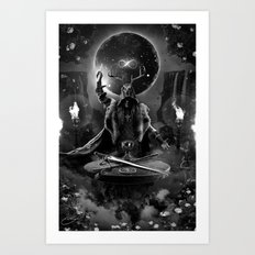 I. The Magician Tarot Card Illustration Art Print