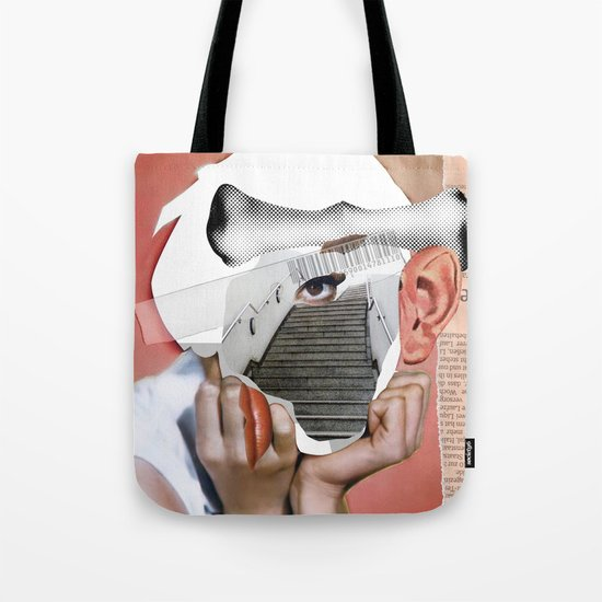 Audrey 3 Collage Tote Bag
