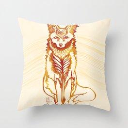 Ethereal Fox Throw Pillow