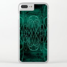 Grunge in Teal II Clear iPhone Case