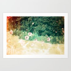 A place of flowers Art Print