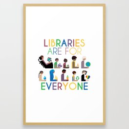 Rainbow Libraries Are For Everyone: Globes Framed Art Print