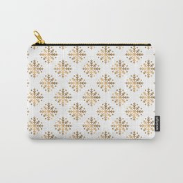Gold Snowflakes 5 Carry-All Pouch