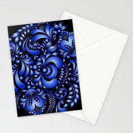 Gzhel black pattern Stationery Cards