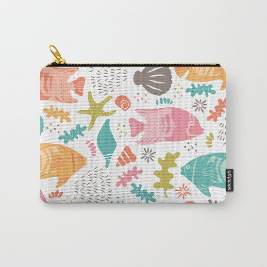 Retro Fish Carry-All Pouch