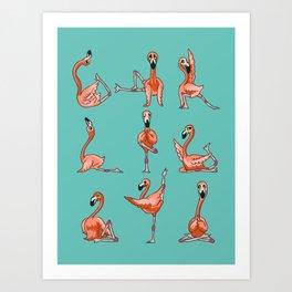 Flamingo Yoga Kunstdrucke