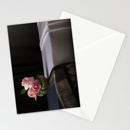 Roses and silk still life Stationery Cards