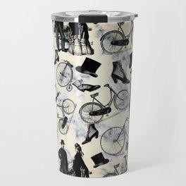 Victorian Bicycles and Fashion Travel Mug