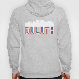 Red White Blue Duluth Minnesota Skyline Hoody