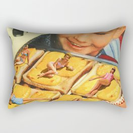 Girls on toast Rectangular Pillow