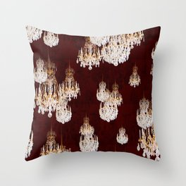 Le mur des lustres Throw Pillow