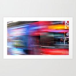 Rushy Bus Art Print