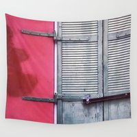memphis Wall Tapestries featuring Memphis Window by wendygray