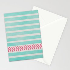 STRIPES AND ARROWS - PINK & BLUE Stationery Cards