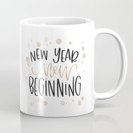 New Year, New Beginning - Gold Coffee Mug