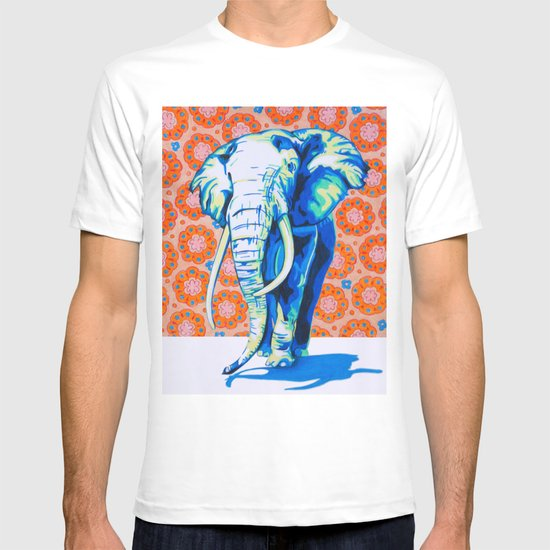 Elephant with Hippie Flowers T-shirt