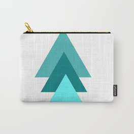 Pastel Blue Geometrics Palette, Calming, Wanderlust, Travel Carry-All Pouch