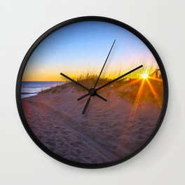 Nags Head Sunrise Wall Clock