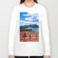 vietnam Long Sleeve T-shirts featuring Lake - Central Highland - Vietnam by CAPTAINSILVA