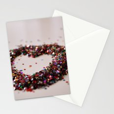 Glitter Heart Stationery Cards