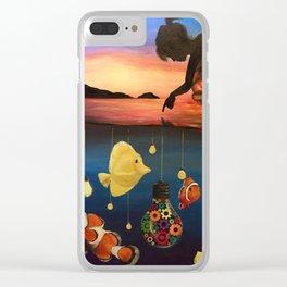 A Dreamers Dream Clear iPhone Case