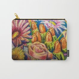 Floral Pastel Painting Carry-All Pouch