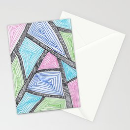 neon crystal Stationery Cards