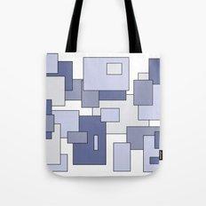 Squares - blue. Tote Bag