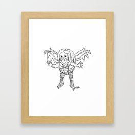 Grunge Monster Framed Art Print
