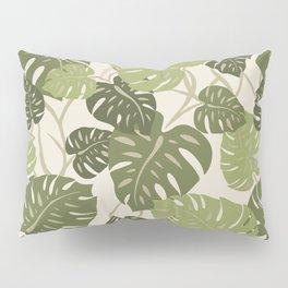 Cliff Hanger Monstera Leaf Hawaiian Print    Pillow Sham