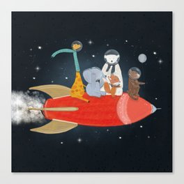 lets all go to the moon Canvas Print