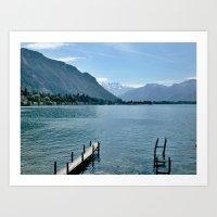 switzerland Art Prints featuring Switzerland by vince_dominguez