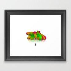 3D GRAFFITI - LCD Framed Art Print