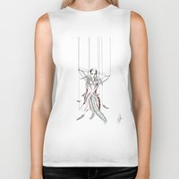moulin rouge Biker Tanks featuring Rouge Gorge by Libby Watkins Illustration