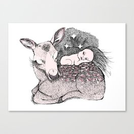 Bambi Night Canvas Print