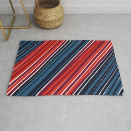 Abstract colorized stripes Rug