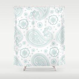 paisley: duff grey Shower Curtain