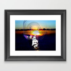 never feel alone Framed Art Print