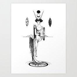 Major Arcana II The High Priestess Art Print
